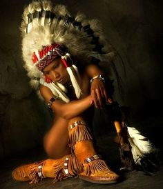 Black Native American Woman!