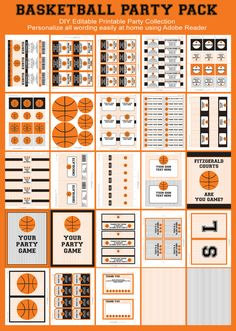 Basketball Party INSTANT DOWNLOAD full Printable by SIMONEmadeit