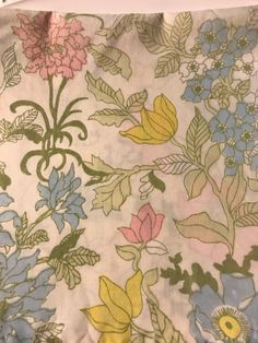 A personal favorite from my Etsy shop https://www.etsy.com/listing/527975042/vintage-sheet-fat-quarter-bright-floral