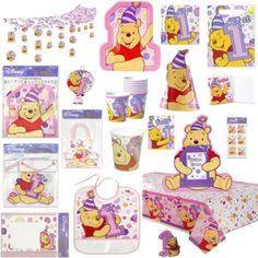PINK-Winnie-the-POOH-GIRLS-1st-Birthday-Party-Supplies-Pick-1-or-Create-a-SET