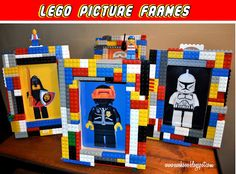 Lego Picture Frames could serve a dual purpose as both centerpieces and a take-home craft. #LegoDuploParty