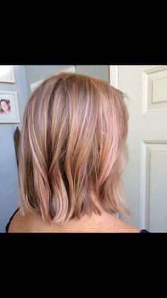Blonde rose gold …