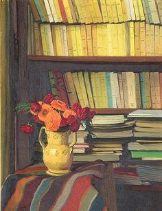 Felix valloton, La Bibliothèque, 1921
