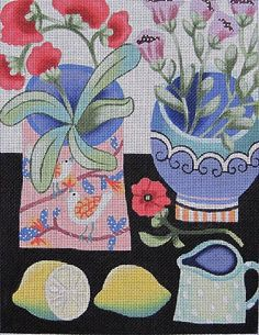Maggie Needlepoint - Holly's Flower #5
