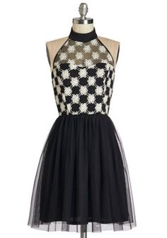 Fell in Love with a Twirl Dress.  #black #modcloth