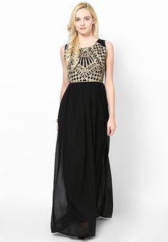 a78a0a00fb Printed Black Dress Black Dresses Online