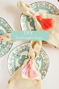 DIY Tassel Napkin Rings
