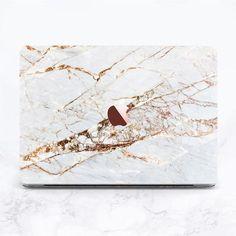 Macbook Pro Stickers, Macbook Pro 13 Inch, Macbook Decal, Macbook Pro Case, Macbook Air 13, Marble Laptop Case, Marble Case, Gold Marble, White Marble