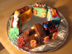 Easy Train Cake
