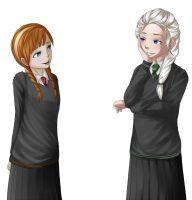 Frozen Hogwarts AU by SteamPunkTieTime