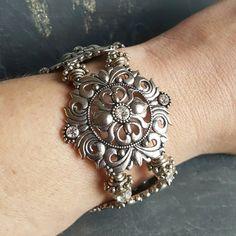 Chunky Tudor Bracelet - Ren Faire - Renaissance Princess Cosplay - Alternative Bride - Tudor Jewelry - Renaissance Bracelet - Bridal Jewelry - Handmade Jewelry - Ren Faire - DRAVYNMOOR