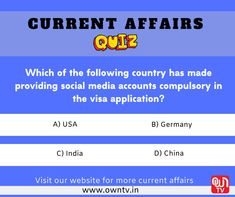 #Quiz #CurrentAffairs #CurrentAffairsQuiz #QuestionOfTheDay #DailyQuiz Paper Video, Current Affairs Quiz, Core Beliefs, Question Of The Day, Study Materials, Social Media, Education, Social Networks, Onderwijs