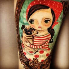 Pug Tattoo Photos | Tattoo Design Inspirations | Pug Dog Tattoo Pictures