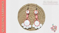 """How to make Quilling paper """"Feet shape"""" Earrings"""