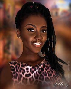 Sexy Black Art, Black Love Art, Black Girl Art, Black Is Beautiful, Black Girl Magic, Beautiful Women, Black Art Painting, Black Artwork, African American Artist
