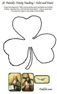 Coloring page for St Patricks Day Clover says 3 in 1 to tie