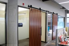 CFT-202-BP Sliding Door Kit is used here in an office building in Calgary, Alberta