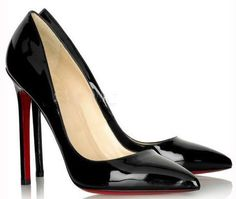 A touch of color on the underside is a great statement on a patent black pump