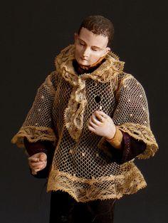 Antique Santos figure~Image via James Caswell Historia Antiques
