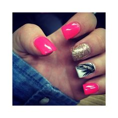 30 Simple Nail Art Designs Trends For Women Fashionte ❤ liked on Polyvore featuring beauty products, nail care and nail treatments