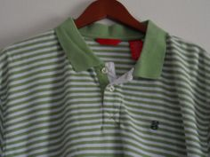 Izod Luxury Sport Polo Shirt Short Sleeve Mens Size XXL 2XL Green White Stripes #Shopping #eBay #Endingsoon http://r.ebay.com/Iy2Qwz