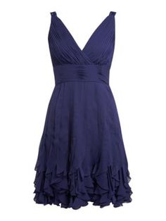 I need this dress....for reals. JS Collections Wrap Over Strap Ruffle Hem Dress...if you see it, tell me! :D