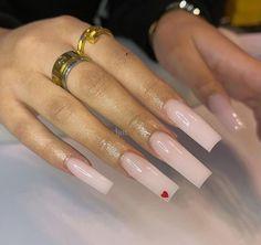 Acrylic Nails Coffin Pink, Long Square Acrylic Nails, Nude Nails, Acrylic Nails Kylie Jenner, Long Square Nails, Drip Nails, Glow Nails, Maquillage On Fleek, Nagellack Design