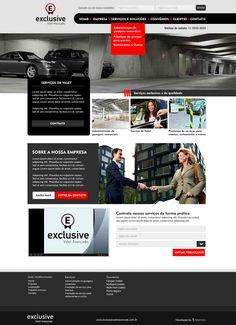 Layout Criação de Site Exclusive Estacionamentos