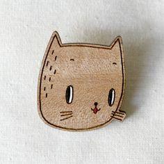 Pannikin cat brooch via Wee Birdy.