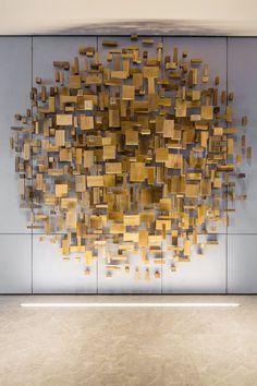 View full picture gallery of Shenzhen Marriott Hotel Nanshan Wood Sculpture, Wall Sculptures, Wooden Wall Art, Wood Wall, Wal Art, Instalation Art, Plafond Design, Marriott Hotels, Inspirational Wall Art