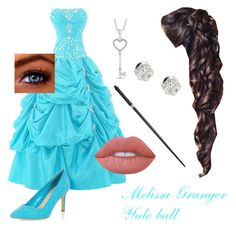 """""""Melissa Granger- Yule Ball"""" by unitedbypotter ❤ liked on Polyvore featuring Van Cleef & Arpels and Lime Crime"""