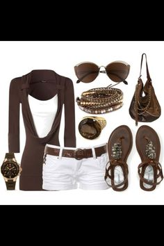 Cute brown outfit for the summer time.
