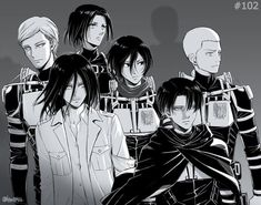 Shingeki no Kyojin. Attack on Titan. Armin, Eren X Mikasa, Levi X Eren, Film Manga, Manga Anime, Anime Guys, Attack On Titan Fanart, Attack On Titan Anime, Levi Ackerman