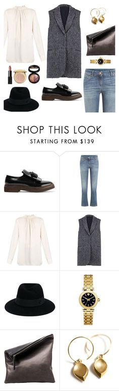 """Gilet"" by petra0710 ❤ liked on Polyvore featuring Brunello Cucinelli, Marni, Maison Michel, Tory Burch, Gräf & Lantz, Christian Dior, NARS Cosmetics and Laura Geller"