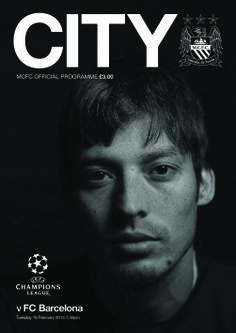 COVER STAR: David Silva adorns the #cityvbarca official match programme, available at the game tomorrow.