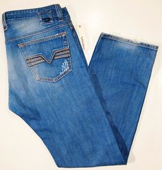 DIESEL men's jeans style name VIKER size 34x32 wash 0088K made in Italia  #DIESEL #StraightLeg