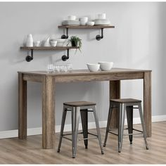 Enchant your guests with the Fusion 24-inch Metal Backless Counter Stool with wood seat from Avenue Greene. The Fusion 24-inch Metal Backless Counter Stool can easily stack for storage.