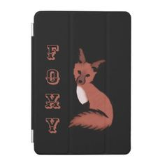 Beautiful Red Foxy Fox iPad Mini Cover - diy individual customized design unique ideas