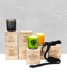 Intensos aromas. Velas con caja de madera. Un #regalo con diseño muy ¿masculino ?