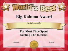 Free Printable Award Certificate