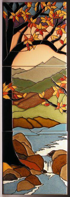 Tiffany-Style Tree - Fall Palette- Unframed