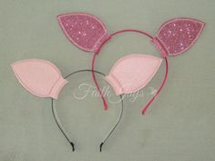 Pig or Piglet Ears Headband by HalleJayShoppe on Etsy