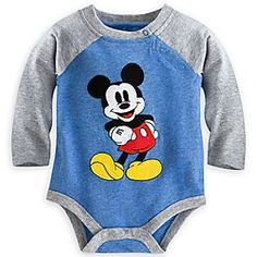 Mickey Mouse Vintage Disney Cuddly Bodysuit | Disney StoreMickey Mouse Vintage Disney Cuddly Bodysuit - There is no comparing to the original! Our heathered cotton bodysuit featurs sporty raglan sleeves and showcases vintage-era Mickey Mouse as an adorable appliqu� with embroidered detailing and sweet smile.