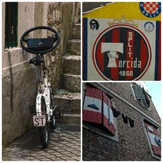 Chorwacja - Split Croatia - Split  #hrvatska #republikahrvatska #split #torcida #hajduksplit #torcidahajduk #supporters #grafitti #ultras #chorwacja #croatia #bicycle #rower #mercedes