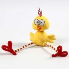 A Silk Clay Chick with long Legs made from Pipe Cleaners and Nabbi Beads Diy And Crafts, Crafts For Kids, Handmade Candles, Creative Kids, Long Legs, Fun Games, Easter Crafts, Geek Stuff, Clay