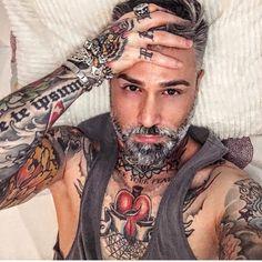 Beard Tattoo, Dreadlocks, Undercover, Tattoos, Instagram, Hair Styles, Sexy, Beauty, Videos