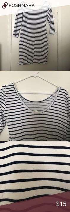 Striped fitted dress Never worn. Tags attached. Fitted. Navy blue stripes. Charlotte Russe Dresses Mini