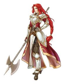 Fire emblem has always been one of the best series for sensible armor design The outfits make sense for the classes. Tharja's armor probably is the most (beside - added by nickelakon at It gives you extra agility points Fantasy Character Design, Character Design Inspiration, Character Art, Female Armor, Female Knight, Red Knight, Dnd Characters, Female Characters, Illustration Fantasy
