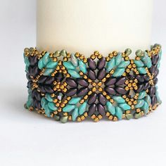 Sale! Beaded bracelet, purple turquoise, statement bracelet, boho bracelet, jewellery, jewelry, elegant.