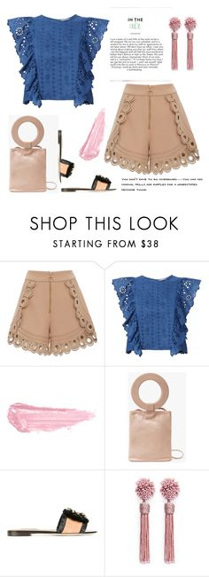 """""""Shorts"""" by erindream ❤ liked on Polyvore featuring self-portrait, Sea, New York, By Terry, Modern Weaving, Dolce&Gabbana and Mignonne Gavigan"""